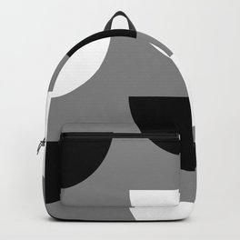 Climbing High - Black & White on Grey - Slices Series Backpack