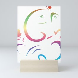 Elegant Design Lord Ganesha Mini Art Print