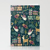 Stationery Cards featuring Christmas Joy by Anna Deegan
