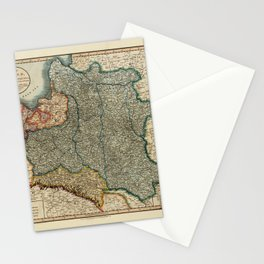 Map Of Poland 1819 Stationery Cards
