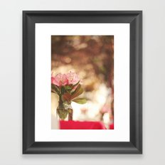 Under a bokeh sky Framed Art Print