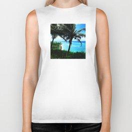 Hawaiian Palm Trees Watching the Cars Go By Biker Tank