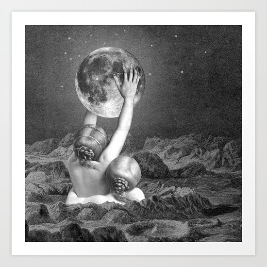 UNDER SAPPHO'S MOON Art Print
