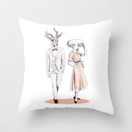 Bestial fashion couple Throw Pillow
