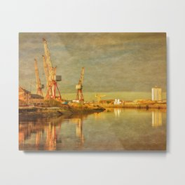 Shipbuilding on the River Clyde Metal Print