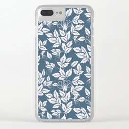 Leaves Pattern 7 Clear iPhone Case