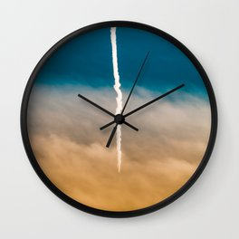 Contrail Sunset Wall Clock