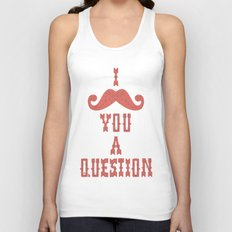 I mustache you a question Unisex Tank Top