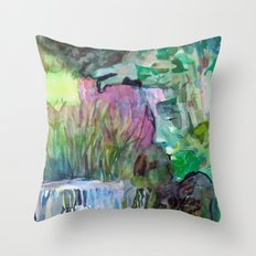 Moses in the Bull Rushes Throw Pillow