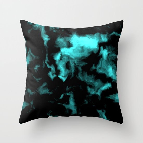 teal and black throw pillow by christy leigh society6 With black and teal pillows