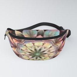 Rainbow Flower in Dimension Mandala Fanny Pack