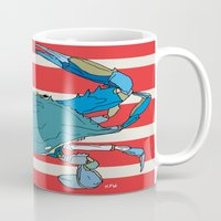 maryland Mugs featuring Maryland Blue Crab by kimbrey