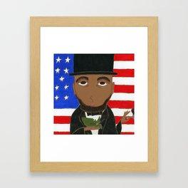 President Lincoln Framed Art Print