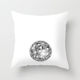 Rap Makes Me Miss Disco Ball Groovy Music Funny T-Shirt Throw Pillow