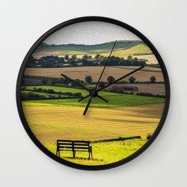 Green and Pleasant Land Wall Clock