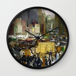 George Bellows - New York (new color edit) Wall Clock