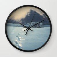 fargo Wall Clocks featuring Fargo by Linas Vaitonis