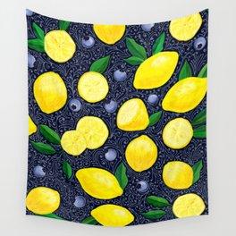 Lemon Blueberry Tart Wall Tapestry
