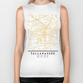 TALLAHASSEE FLORIDA CITY STREET MAP ART Biker Tank