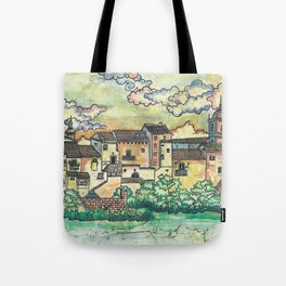 """A Spanish village"" Tote Bag"