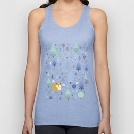 The fox in the winter forest Unisex Tank Top