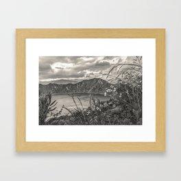 Quilotoa Lake, Latacunga Ecuador Framed Art Print