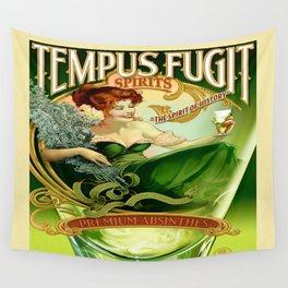 Vintage poster - Tempus Fugit Absinthe Wall Tapestry