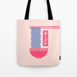 Ramen Japanese Food Noodle Bowl Chopsticks - Salmon Tote Bag