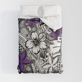 Hawaiian - Samoan - Polynesian Tribal Floral Print Comforters