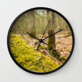 Mossy forest floor Wall Clock