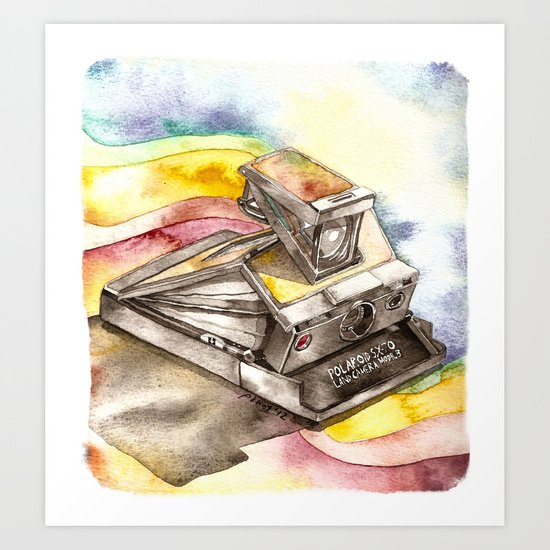 Vintage gadget series: Polaroid SX-70 Model 3 Land Camera Art Print