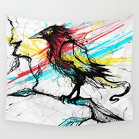 birdy Wall Tapestries featuring Birdy   N by DizzyNicky