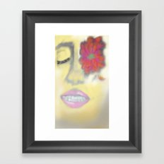 Flower Eye Framed Art Print