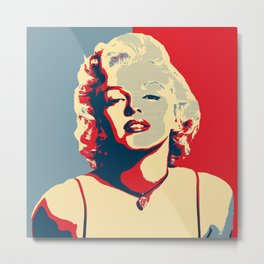 marylin Monroe affiche Metal Print