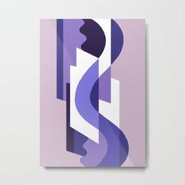 SUISSE - Art Deco Modern: PASSION FOR PURPLE Metal Print