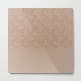 Abstract solid beige pattern . Metal Print