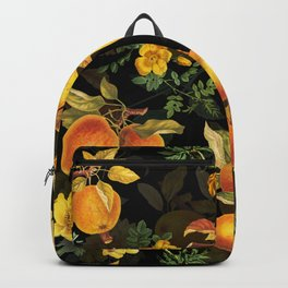 Vintage & Shabby Chic - Midnight Golden Apples Garden Backpack