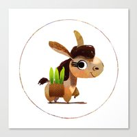donkey Canvas Prints featuring Donkey by Jose Campa