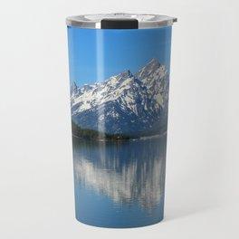 Jackson Lake and Grand Teton Refection Travel Mug