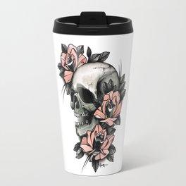 Skull and roses - tattoo Travel Mug