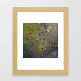 Spraypaint Splatter Framed Art Print