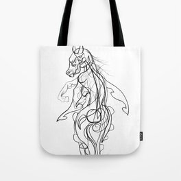 Horse and girl Tote Bag