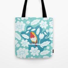Coloured Robin Tote Bag