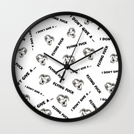 I Don't Give A Flying Fuck Wall Clock