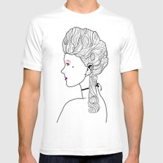 Marie Antoinette SMALL White Mens Fitted Tee