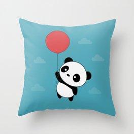 Kawaii Cute Panda Flying Throw Pillow