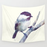 wesley bird Wall Tapestries featuring Bird // Trust by Amy Hamilton