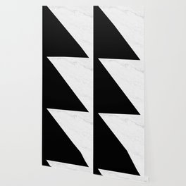 Marble And Black Diagonal Wallpaper