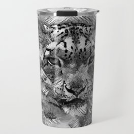 AnimalArtBW_Leopard_20170601_by_JAMColorsSpecial Travel Mug
