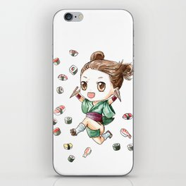 Sushi Girl iPhone Skin
